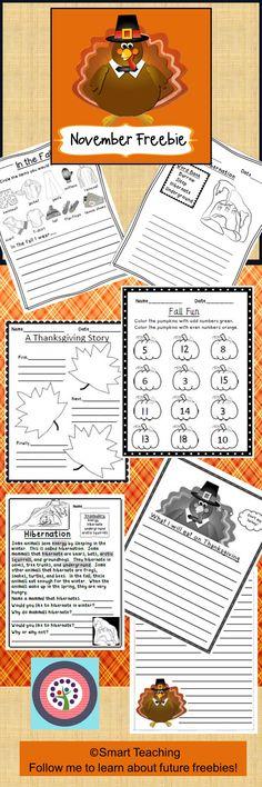 Free Thanksgiving - November Assortment Pack - A Sample of Products Thanksgiving Stories, Thanksgiving Activities, Holiday Activities, Thanksgiving Crafts, Teaching Activities, Classroom Activities, Teaching Ideas, School Holidays, In Kindergarten