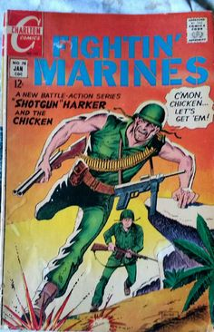 Charlton comics fightin Marines comic book in good condition issue number 78 from 1967