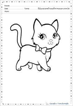 Desenho de animal para colorir e imprimir - Desenhos de animais Animal Gato, Snoopy, 1, Fictional Characters, Google, Print Coloring Pages, Tame Animals, Small Animals, Sheep