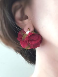 Jewelry Design Earrings, Ear Jewelry, Diy Earrings, Cute Jewelry, Fashion Earrings, Earrings Handmade, Fashion Jewelry, Flower Earrings, Fancy Jewellery