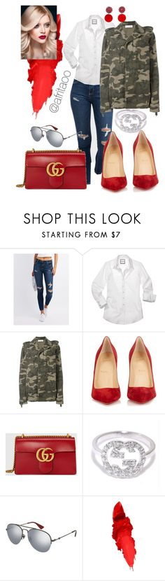 """Sin título #193"" by afritaoo ❤ liked on Polyvore featuring Cello, Faith Connexion, Christian Louboutin, Gucci, Maybelline and Marni"