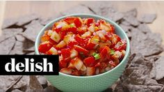 Strawberry Salsa - Delish - YouTube