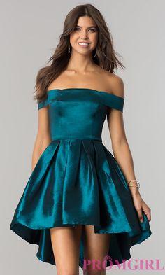 Off the Shoulder Short Formal Dresses