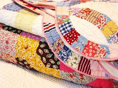 You were always warm when you went to bed at granny's house cause she had lots of vintage quilts!