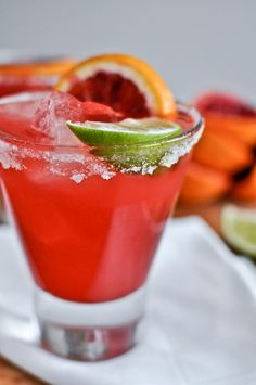 Blood Orange Margaritas from @How Sweet Eats