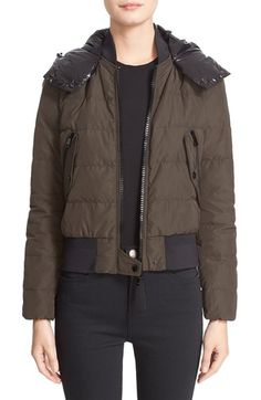 Moncler 'Agathe' Hooded Down Jacket