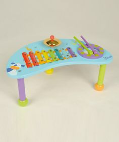 Wooden Percussion Table #zulilyfinds