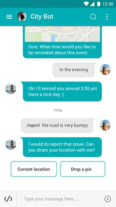 CITYBOT: A chatbot interface for a smart city on Behance