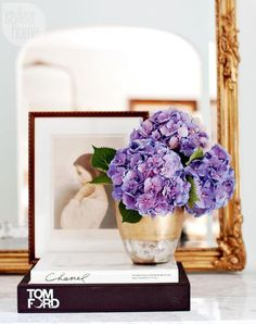 Purple flowers in this Parisian Inspired Apartment, bright purple flowers, pantone ultra violet, dark purple Parisian Decor, Parisian Style, Parisian Apartment, South Shore Decorating, Decorating On A Budget, White Rooms, Color Of The Year, Pantone Color, Home Decor Accessories