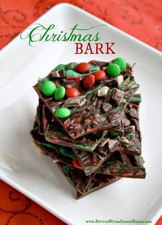 Christmas Bark ~ Butter with a Side of Bread christmas cooking gifts Christmas Bark, Christmas Deserts, Christmas Chocolate, Christmas Goodies, Holiday Desserts, Holiday Baking, Christmas Treats, Holiday Treats, Holiday Recipes