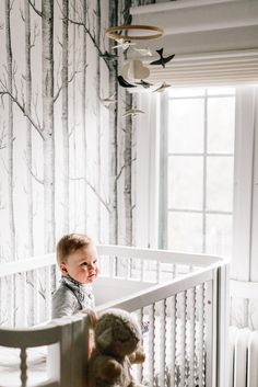 Vignette Modern Roman Shades in White Dawn on Wit & Delight - Babyproofing without Sacrificing Style Types Of Window Treatments, Wit And Delight, Baby Gates, Hunter Douglas, Home Safes, Childproofing, Window Panels, New Parents, Roman Shades