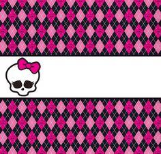 Monster High: Toppers y Etiquetas para Candy Bar para Imprimir Gratis.