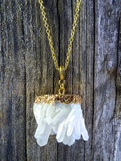 Clear Quartz Necklace by JewelryByKrystle on Etsy, $38.00