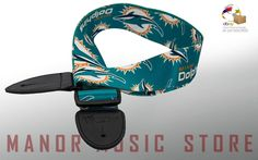 NFL Officially Licensed MIAMI DOLPHINS guitar strap collectors memorabilia #NFL…