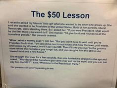 The $50 lesson