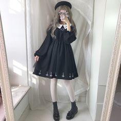 Harajuku Street Fashion Cross Cosplay Female Dress Japanese Summer Gothic Kawaii Style Star Tulle Dress Lolita Cute Girl Dresses sold by CUTEEE. Harajuku Fashion, Kawaii Fashion, Cute Fashion, Star Fashion, Fashion Outfits, Dress Fashion, Harajuku Style, Fashion Women, Fashion 2018
