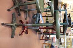 $800/set $100 shpg Four (4) vintage adjustable urban loft industrial drafting stools