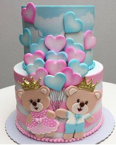 Best cupcakes decoration ideas girls valentines day ideas - birthday /Communion/ Christmas cakes n tutorials - Fancy Cakes, Cute Cakes, Pretty Cakes, Beautiful Cakes, Fondant Cakes, Cupcake Cakes, Fondant Toppers, Bolo Fack, Baby Reveal Cakes