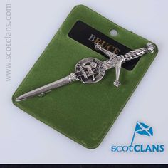 pewter kilt pin with Bruce Crest from ScotClans