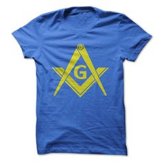 Yellow Masonic Square and Compasses