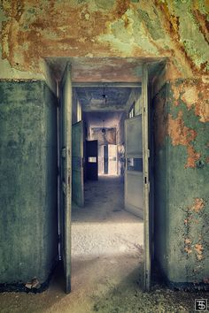 mental corridor. Sven Fennema's photographs are a beautiful look at the decay of grand buildings.