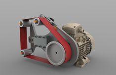 малый ленточно-шлифовальный станок - STEP / IGES - 3D модель - GrabCAD