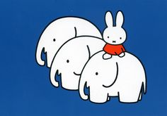 Miffy and elephants! :) By Dick Bruna, from the Netherlands. Book Cover Design, Book Design, Elephant Photography, Elephant Illustration, Illustration Art, Cartoon Tv Shows, Miffy, Haha, Colorful Drawings
