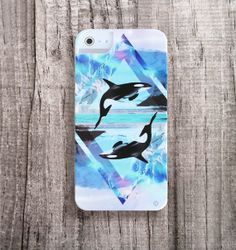 Geometric Orca Killer Whale iPhone 5/4 Case | CasesByCsera