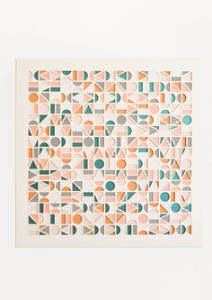Module Geometric Laser Cut Artwork by Molly M Designs Geometric Graphic Design, Graphic Patterns, Geometric Art, Geometric Designs, Geometric Patterns, Pattern Art, Surface Pattern, Pattern Design, Pattern Painting