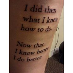 Contrariwise Literary Tattoos found on Polyvore