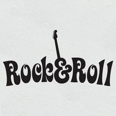 Rock'N'Roll Wall Art Sticker Bedroom Living Room Rock N Roll Guitar R6 | eBay
