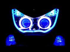 Yamaha NMAX 150 custom with projector hid - YouTube