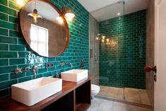 25 Affordable Green Bathroom Design Ideas, There's a lot you can do in order to your bathroom by utilizing ceramic tiles. The bathroom is somewhere to purify and regenerate. Zen Bathroom, Modern Bathroom, Green Bathroom Tiles, Bathroom Colors, Bad Inspiration, Bathroom Inspiration, Bathroom Interior Design, Bathroom Styling, Boutique Bathroom