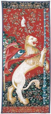 (this has a bunny rabbit!!! - p.mc.n.) D155-496-74*30 Portiere Lion (8225) Tapestries: Tapestry gallery - Over 1500 tapestries and tapestry decorating accessories - Finest quality...