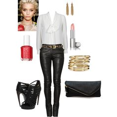 I Love this outfit for a night out. Its simple,classy and edgy all in one.