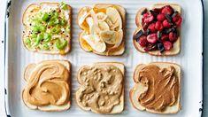 Grown-Up PB&J's Creamy Peanut Butter, Almond Butter, Seed Butter, Gourmet Recipes, Soup Recipes, Martha Stewart Cooking School, Slider Sandwiches, Sliders, Peanut Butter Sandwich