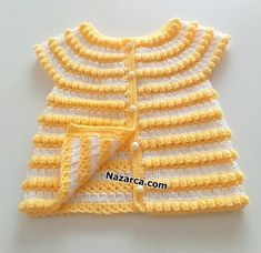 Baby Knitting Patterns, Hand Knitting, Knitted Baby Clothes, Crochet Top, Vest, Popcorn, Tops, Youtube, Fashion