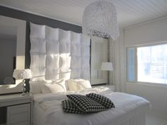 When big is not big enough - left the headboard cushions (DIY)   Houses and requests