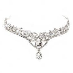 Glamourous Alloy With Rhinestone Heart Design Diamond Pendant Forehead Jewelry
