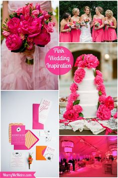 #hot #pink #wedding #inspiration #board on Marry Me Metro | A Wedding Ideas Blog for City Brides & Grooms