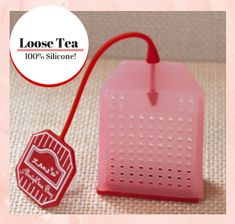 Silicone tea bag for loose teas.  Great for making fruit infused iced teas!