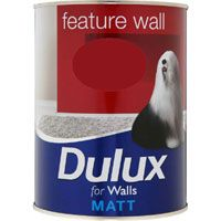 Dulux Feature Wall Redcurrant Glory, Great for Feature Walls Dulux Feature Wall, Feature Walls, Dulux Paint, Tesco Direct, Espresso Shot, Teal, Purple, Truffle, Raspberry