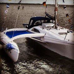"""""""The lovely thing about cruising is that planning usually turns out to be of little use."""" - Dom Degnon (Photo of our Corsair 31) www.corsairmarine.com #corsair #corsairmarine #sail #sailing #catamarans #cats #trimarans #ocean #nautical"""