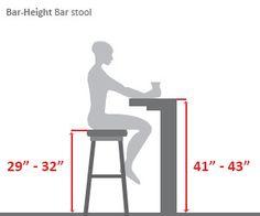Bar-Height Bar Stool Diagram