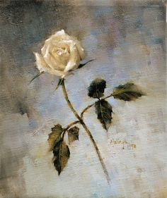 No matter how skilled, it is always a challenge to #paint a rose well. It's an exercise in edges & #values.  #artist