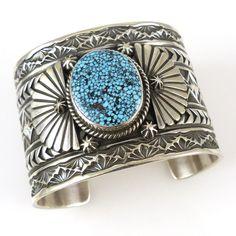 ~ Kingman Turquoise Cuff ~ | Sunshine Reeves | garlandsjewelry.com