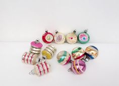 12 Vintage Shiny Brite Christmas Ornaments by CozyHomeVintage