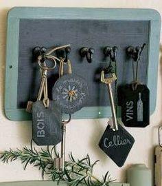 e28837510800 DIY   un cadeau fait maison pour la fête des pères. Boite A ClefsPorte ...