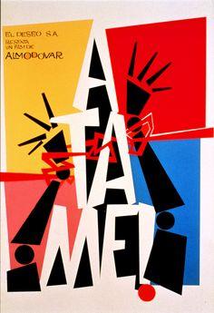 Átame (1989) es dirigida por Pedro Almodóvar y tiene Antonio Banderas como actor. La trama sigue un hombre que trata de encontrar una mujer después de salir un manicomio. La mujer fue adicta y trabajó en pornografía y no puede recordar el hombre. Tiene los temas característicos de la Movida.