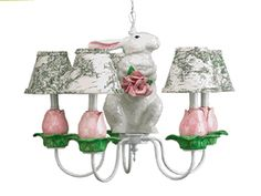 Nursery Boutique -Chandeliers -Garden Bunny- Unique Chandeliers For any Baby Nursery or Children's Room|Find|Buy|Shop|Compare|LollipopMoon.com only $530.00 - Louise Antoinette Designs